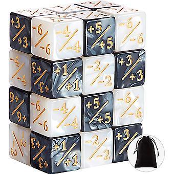 FengChun 24 Stcke Wrfel Zhler Zeichen Wrfel D6 Wrfel Cube Loyalitt Wrfel Kompatibel mit MTG, CCG,