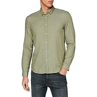 TOM TAILOR Denim Allover Print T-Shirt, 24215-Green Stripy Rhombus, M Men's