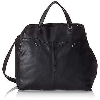 PIECES Pccora Leather Daily Bag - Women's Crossbody Bags, Black, 12x32x35 cm (B x H T)