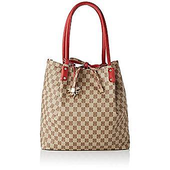 piero guidi Tote Bag, Women's Shoulder Bag, Red (Bordeaux), 33x33x12 cm (W x H x L)