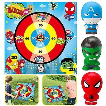 Superhero Flarts Lawn Dart Game Of Safe Version, Throwing Squishies Toy On