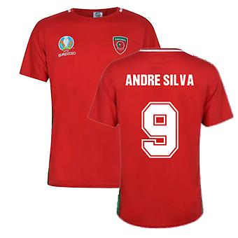Portugal 2021 Polyester T-Shirt (Red) (Andre Silva 9)