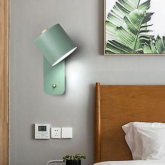 Creative Bedroom Bedside Lamp  Reading Lamp Green Wall Lamp Lighting(not Include Bulb)