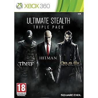 Ultimate Stealth Triple Pack (Voleur / Tueur à gages Absolution / Deus Ex Human Revolution) Xbox 360 Jeu
