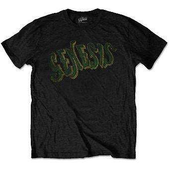 Genesis - Vintage Logo - Grønn T-skjorte for menn - Svart