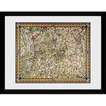 """Transport For London Map 4 12"""" x 16"""" Framed Collector Print"""