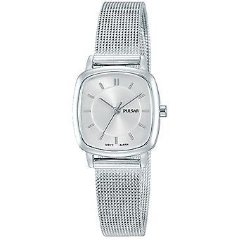 Pulsar PH8375X1 Ladies Bracelet de malha de aço inoxidável com relógio de discagem de prata 50M