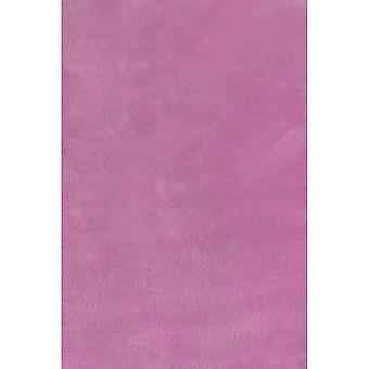 Lulu Modern Plain Shaggy Rugs In Heather Purple