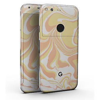 """Marbleized Swirling Coral Gold - Full-body Skin Kit For The Google 5"""""""