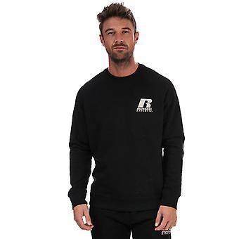 Men's Russell Athletic Crew Neck Sweatshirt in Black