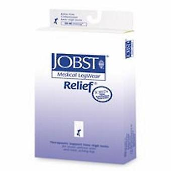 Jobst Compression Stockings JOBST Relief Knee High X-Large Beige Closed Toe, 1 Pair