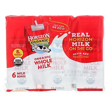 Horizon Milk Whole Plain 6X8Oz, Case of 3 X 48 Oz