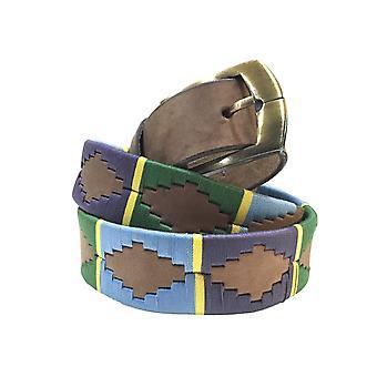 Carlos Díaz cinturón de cuero marrón awo49381