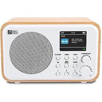 "Ocean Digital Portable Dab + / Dab / FM Digitalradio mit wiederaufladbarem Akku, 2,4 ""Farbdisplay,"