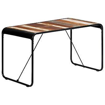 """שולחן אוכל vidaXL 140x70x76 ס""""מ עץ ממוחזר מוצק"""