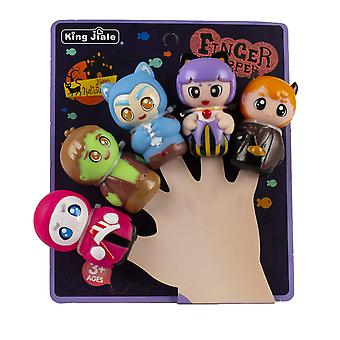 Swotgdoby Halloween Hand Puppet Toy Set, Five Finger Dolls With Different Images