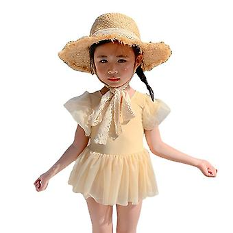 Girl's swimsuit student baby one-piece tulle skirt