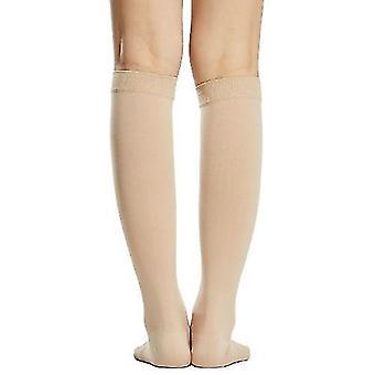 Sokker 1 par kompression sokker mænd kvinder 20-30mmhg åben tå kompression strømper kompression ærmer til åreknuder hævelse