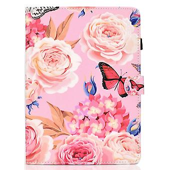 Case For Ipad Pro 12.9 2020 Cover With Auto Sleep/wake Pattern Magnetic - Peony