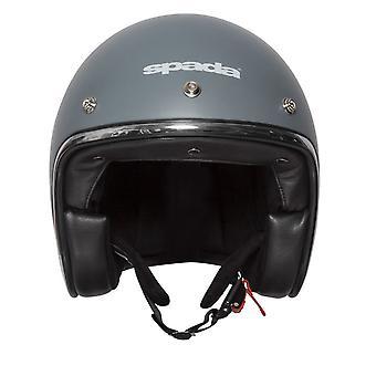 Spada Open Face Classic Plain Motorcycle Helmet Matt/Grey