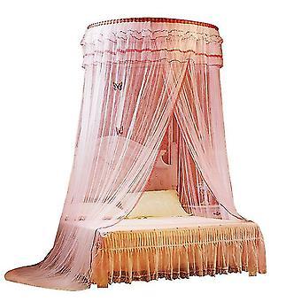 Princess Spitze hängende Moskitonetze Erhöhen Verschlüsselung (Pink)