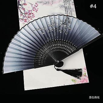 Chinese Vintage Style Folding Fan Art Craft Gift Dance Hand Fan Home Decoration Ornaments(#4)
