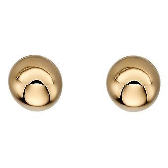 HS Johnson HSJ-GE2210 Women's 9ct Gold Ball Stud Earrings