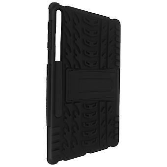 Cover for Galaxy Tab S7 FE Bi-Material Protection with Crutch Support black
