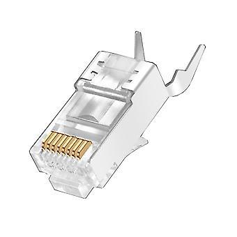 5/10 Pieces cat7 metal shielded rj45 connectors modular plug - cat 7 8p8c network rj 45 cable crimp ethernet connector