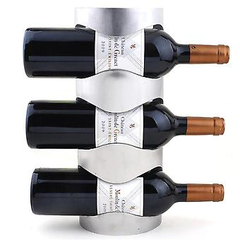 Stainless Steel Wine Rack Holders Home Bar Wall Grape Wine Bottle Stand Rack Suspension