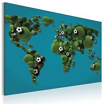 Weltkarte Bild - Runde Kontinente wie ein Ballon