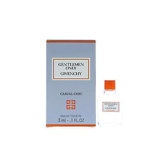 3 x Givenchy Gentlemen Only Casual Chic EDT 3ml