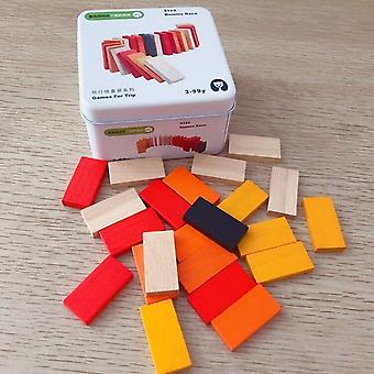 Children wooden puzzle domino tangram toys early learning education intelligence kids interactive game toys with retail box