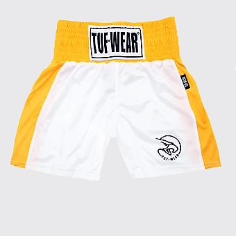Tuf Wear Kids Junior Club Boksning Shorts Hvid / Guld