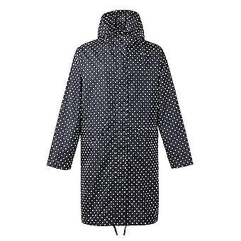 Breathable Ladies Long Portable Water Repellent Rain Coat Jacket