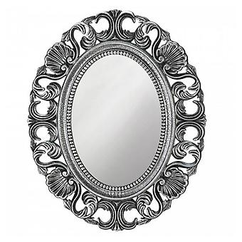 Accent Plus Silver Scallop Border Wall Mirror, Pack of 1