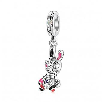 Sterling Silber Charm-anhänger Roboter Hase - 7142