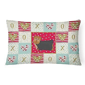 Pillows carolines treasures ck5901pw1216 yorkshire terrier #2 love canvas fabric decora