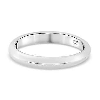 TJC Silber Ehering für Damen 925 Sterling Gestanzt Schmuck (M)