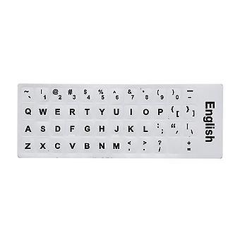 Mehrsprachige Tastaturaufkleber (Englisch-weiß)
