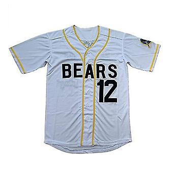 Mauvaises nouvelles pour hommes Bears #12 Tanner Boyle White Movie Baseball Jersey