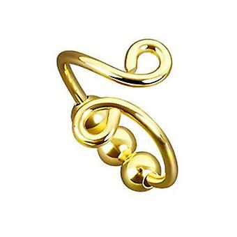 Draaibare ronde kraal spiraalvormige ring opening verstelbare vrouwen Findget Spinner Ring Angst Ring