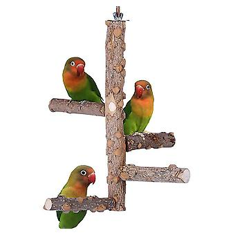 Parrot Stand Parrot Toy Bite Toy Pepper Wood Activity Stand