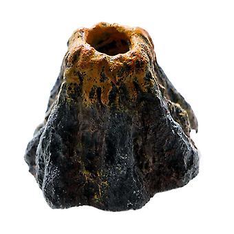 Gyönyörű Akvárium Víztartály Vulkán kitörés Dekoratív vulkán modell