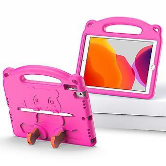 Étui pour Ipad 8 10.2 2020, antichoc Léger Convertible Poignée Stand Protection Enfants Enfant Cover - Pink Panda