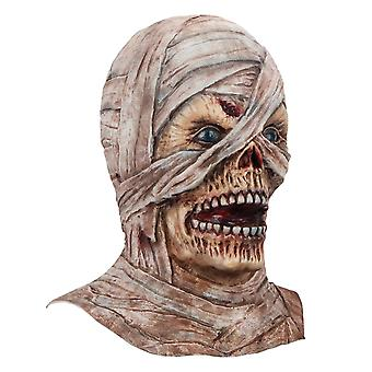 Halloween Props Cosplay Mummy Mask, Latex, Rubber Horror Headgear, Stage Props.