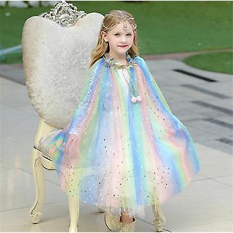 Gefrorene Aisha Prinzessin Kleid Cape Umhänge Kostüm für Mädchen Dress Up