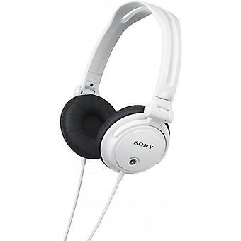 سوني رصد سماعات الرأس مع أكواب الإذن عكسها-الأبيض (MDRV150W)