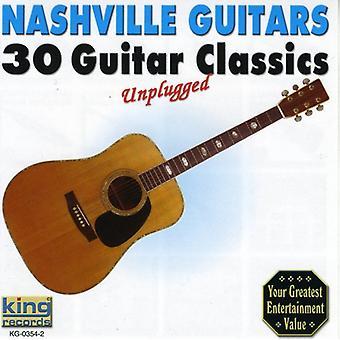 Nashville Guitars - 30 gitarr Classics Unplugged [CD] USA import