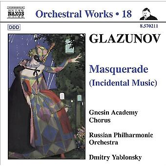 A. Glazunov - Glazunov: Masquerade (Incidental Music) [CD] USA import